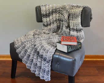 Beth Blanket in Marble Grey and White - Perfect Shower or Housewarming Gift