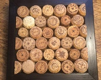 Recycled Sparkling Wine Corks Cork Board—Black on Black