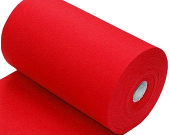Red Cotton Ribbing, Cuff and waistband material