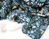 Bare Nopal Gloom Baby Blanket, Faux Fur Blanket, Toddler Blanket, minky blanket