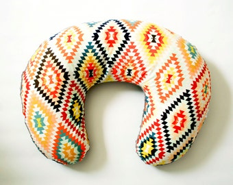 Kilim Nursing Pillow Cover, Serape Fervor