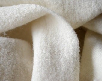 Wool Knit Fabric. Felted, heavy, luxurious wool fabric. Handmade in Leh. Natural, fairtrade. 60 inch / 152 cm tube. Leh Felted Wool Knit.