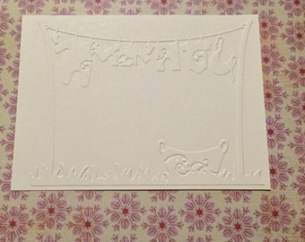 10 Baby Clothes Embossed Cardstock - Choose your Color