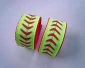 Softball Personalized Sleeve Holders with your CHILD's NAME or TEAM Name you Choose Ribbon and Colors