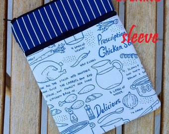 CLEARANCE - personalized SLEEVE cover for ipad mini / kindle / nook / samsung - chicken soup