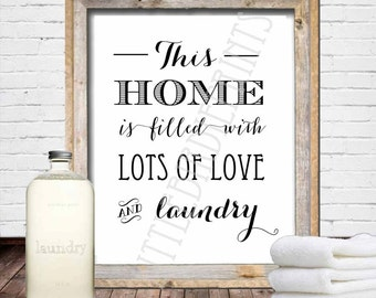LAUNDRY ROOM Sign - Laundry room wall art - Laundry room printable - Laundry room decoration Instant download