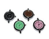 Colored Watch Face (1) for Beading Jewelry Finding Supply Circle Round Simple Design