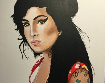 Amy winehouse 24 x 18 Acrylic on canvas , ready to hang, by Michael H. Prosper