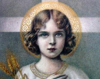 Vintage USA Litho 1930s the Child Jesus Holy Card