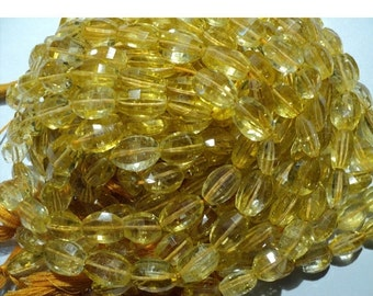 45% ON SALE Yellow Citrine, Step Cut Beads, Oval Nuggets - 12mm Each - Half Strand 4 Inches - 8 Pieces