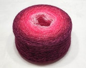Gradient cashmere silk yarn hand dyed  lace weight yarn 99-102g (3.5-3.6oz) - Summer transitions