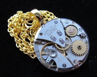 Steampunk Watch Movement Necklace Pendant A 4