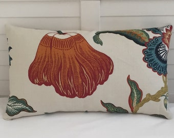 Schumacher Hothouse in Spark Designer Lumbar Pillow Cover 12x20