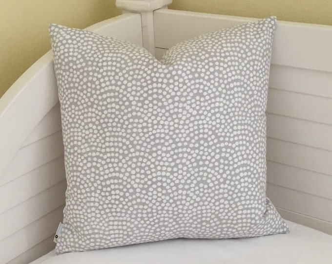 Quadrille China Seas Mojave Gray and White Designer Pillow Cover - Square, Lumbar and Euro Sizes