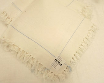 Set of 12 unused Vintage Cotton Fringe Edge Napkins Made in India