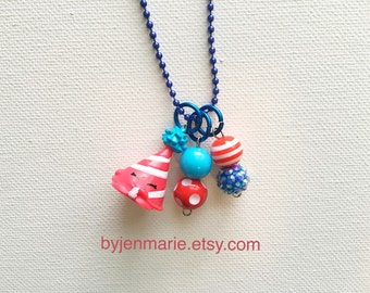 Shopkin Charm Necklace Marty Party Hat Season 4