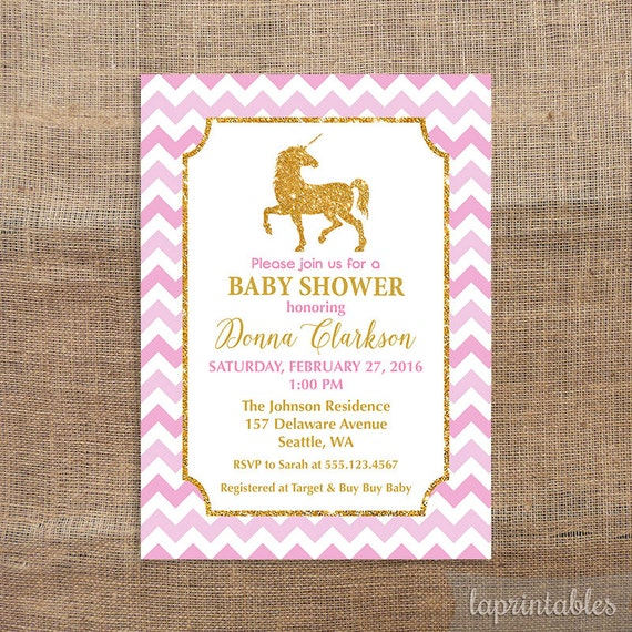 baby shower invitation pink and gold glitter baby shower invite baby