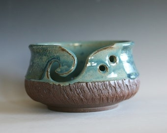 Yarn Bowl, knitting bowl, pottery yarn bowl, pottery knitting bowl, handmade ceramic yarn bowl, READY to Ship