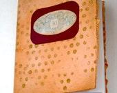 Gold Polka Dot Notebook, Pink Notebook, Handmade Notebook