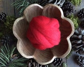 Wool roving supply for needle felting, Red, 1 ounce or 1/2 ounce, bright red felting wool, red wool roving, red wool for needle felting