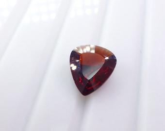 Natural Garnet. Pear / Shield Shape. Native Cut. Faceted. 1 pc. 3.52 cts. 10x11x4.5 mm (GA938)