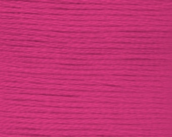 DMC 3805 cyclamen pink 100% long staple Egyptian cotton thread for embroidery 8m long