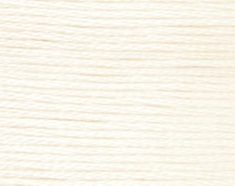 DMC B5200 white 100% long staple Egyptian cotton thread for embroidery 8m long