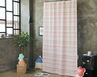 Pink Flowers Black Out Wide Fabric Panel for Curtains (59 inches x 98 inches) 76431