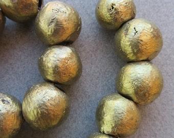 African Brass Globes