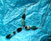 Matching necklace - teal agate bracelet and earring set