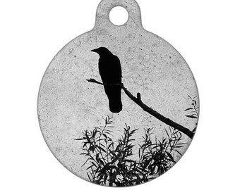 Pet ID Tag - Crow Photo Pet Tag, Dog Tag, Cat Tag, Bag Tag, Child ID Tag