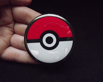 Pokeball Inspired Pin Back Button Pokemon 2.25""