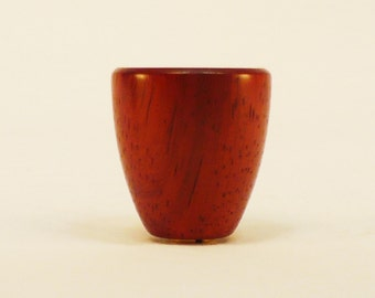 """Wood Lamp Finial Bloodwood Cup Pattern 7, 1.5"""" tall x 1.4"""" dia"""
