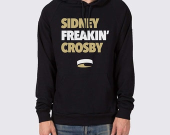 Sidney Freakin' Crosby Pullover Hoodie ( Pittsburgh Penguins Hoodie, Sidney Crosby Hooded Sweatshirt, Sidney Crosby Shirt, Pens Hockey )