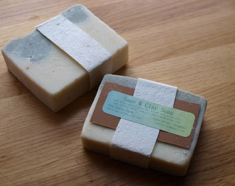 Farm Fresh Rustic Sage and Green Clay Soap