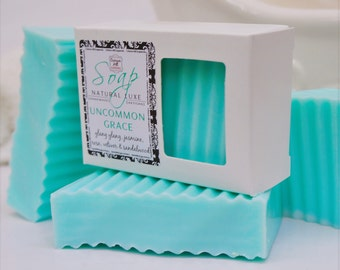 Uncommon Grace Soap-  large 5.5 oz, shea butter, mango butter, cocoa butter, vegan, natural, scent, handmade, gift