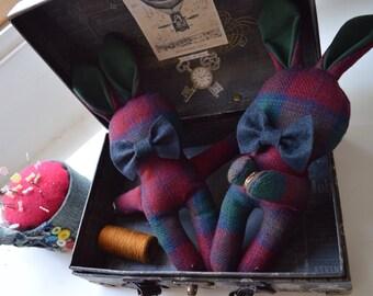 Bunny curtain holders (a pair)