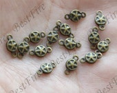 30pcs 5x9 mm Antique Brass jewelry Connectors Setting,earring Connector Findings,Filigree Findings, Connector fittings
