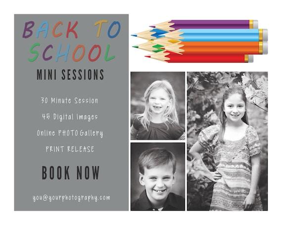 back to school template mini session pencil flyer chalkboard mini marketing blog post template. Black Bedroom Furniture Sets. Home Design Ideas