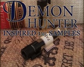 DEMON HUNTER Perfume Samples / 1ml perfume cologne / Supernatural Perfume / Vegan perfume / Mens Cologne