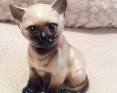 20% SALE Vintage Napcoware Siamese Cat Figurine Planter made in 1960s Japan