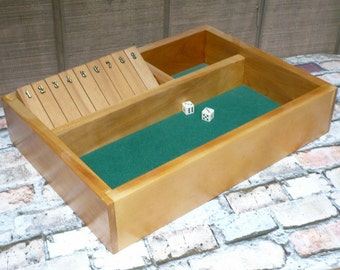 SHUT THE BOX Game Hand Crafted Dice Game