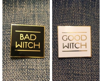 Good Witch Bad Witch Hard Enamel Pin
