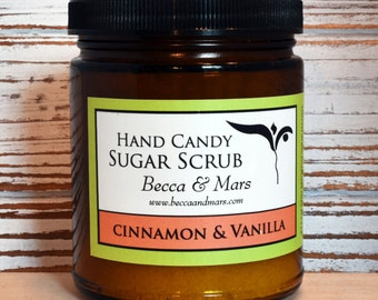 Cinnamon and Vanilla Hand Candy Sugar Scrub 8oz