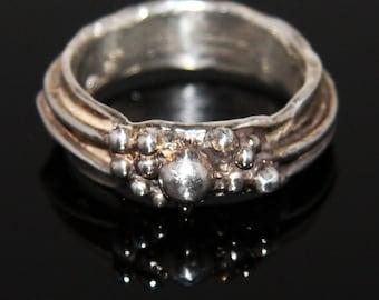 Fine Silver Orb Ring