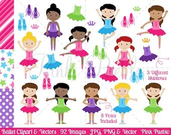 Ballerina Clipart Clip Art, Ballet Class Clip Art Clipart Vectors - Commercial and Personal Use