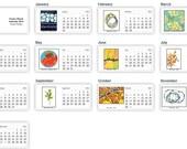 Printed Desk Calendar 2016 - Twelve month