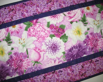 Floral Table Runner, Floral, quilted, Summer, table linens, fabric from Wilmington Prints