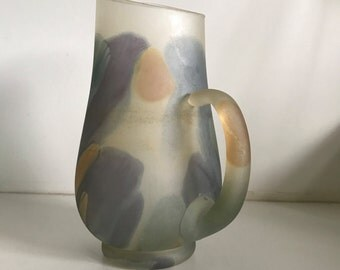 Vintage Frosted Swirl Pitcher