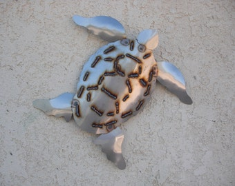 Stainless Steel Turtle Wall Art